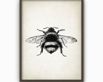 Bumble Bee Wall Art Poster