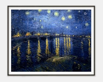 Starry Night over the Rhone by Vincent van Gogh - Giclee Print - Fine Art Reproduction