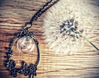 Dandelion Wisp Necklace Inspired By A Court Of Thorns And Roses