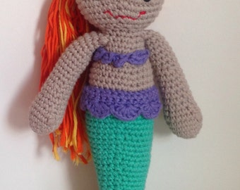 Crochet Mermaid Toy Doll CE