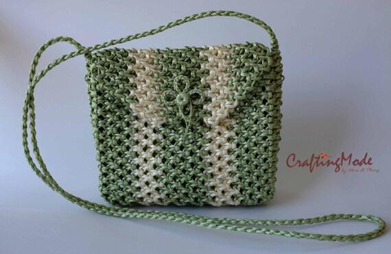 sac couleur en macram tissage panier corde fait la. Black Bedroom Furniture Sets. Home Design Ideas