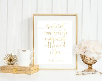 Gold St. Catherine of Siena Wall Art