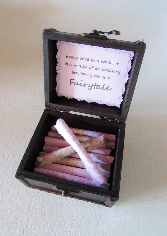 Girlfriend Disney Scroll Box Romantic Disney Movie Love Quotes in Wood Treasure Chest Wife Disney Gift Disney Anniversary Disney Love Disney