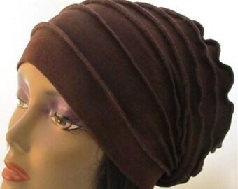 Brown 4 way stretch slinky fabric Slinky (The feel good hat )