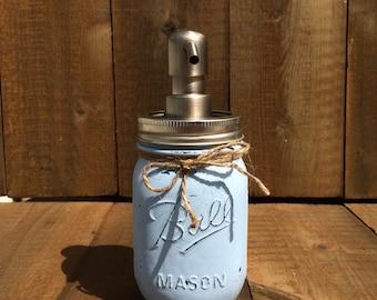 Mason Jar Soap Dispenser! You CHOOSE YOUR COLORS! Custom-Painted-Mason Jar Soap Dispenser-Rustic!
