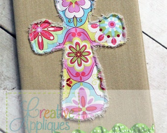 Cross Raggy Bean Stitch Machine Embroidery Applique Design 9 SIZES!!!