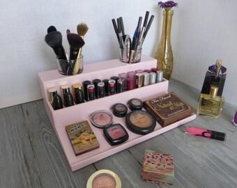 Makeup Organizer   Beauty Station In Pale Pink   Bathroom Storage    Rangement Maquillage   Lipstick