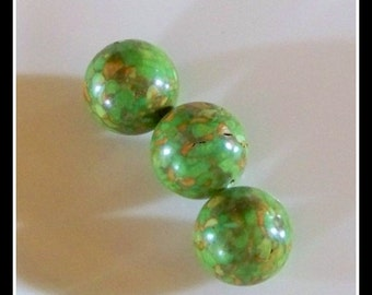 Turquoise-Mosaic Turquoise- Quality Mosaic Turquoise-round beads- beads-green turquoise beads-beading supplies-destash supplies-DIY beads