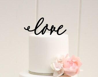LOVE Wedding Cake Topper Custom Design