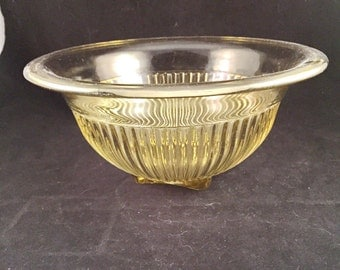 Vintage Amber Glass Mixing Bowl By Federal