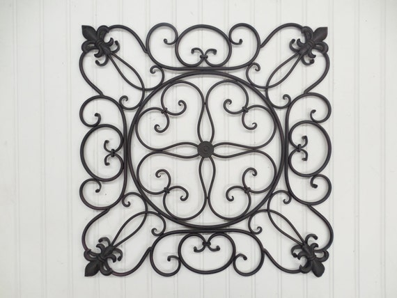 Wrought Iron Wall Decor-You Pick Colors/ Metal By