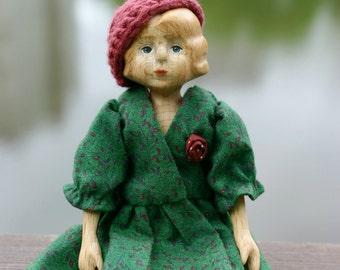 Art doll wooden bjd doll