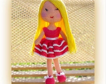 Crochet doll pattern Lilla doll pattern