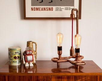 DUSO Copper Table Lamp