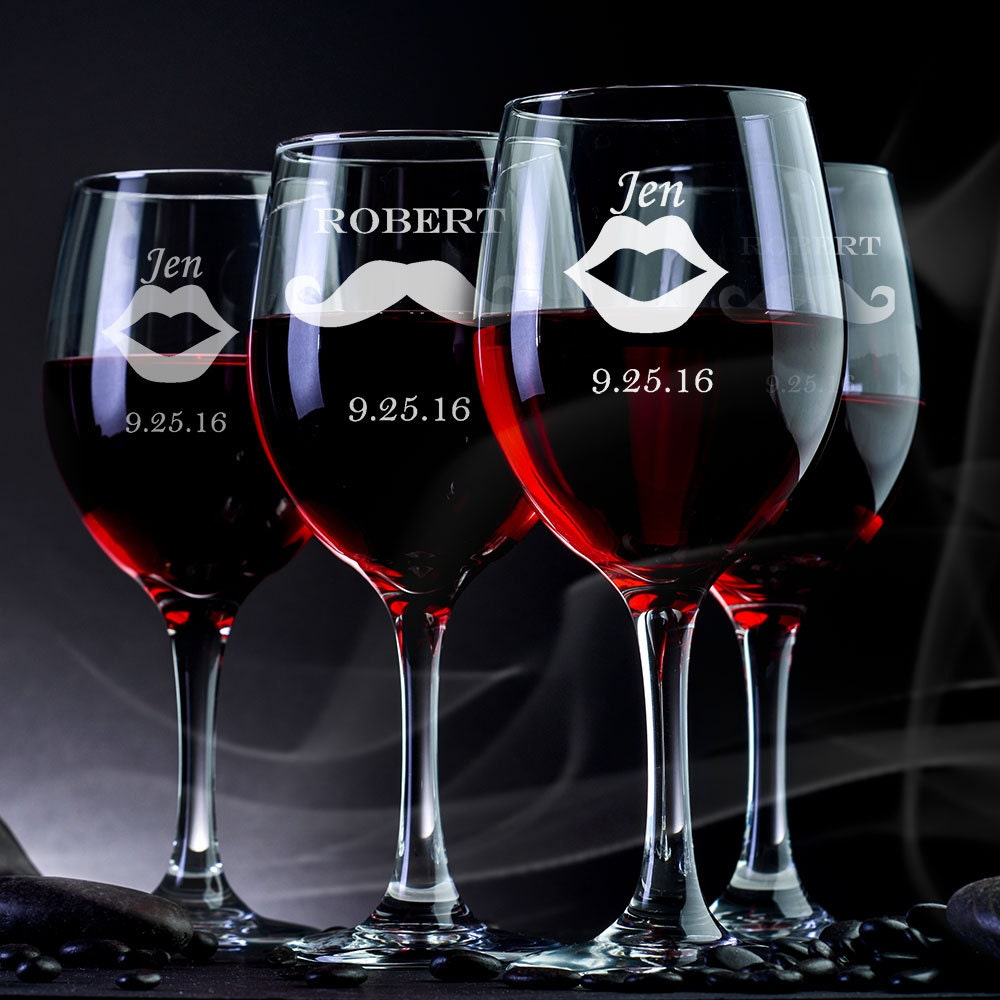 Engraved Wine Glasses For Wedding Gift : Engraved Wine Glasses Wedding Gift Wedding Wine Glass