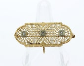 10K Yellow and White Gold Diamond Convertible Brooch/Pendant