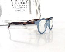 Designer handmade spectacles and reading glasses with a pantos shape for men and women, Blue and tortoise eyeglasses and frames