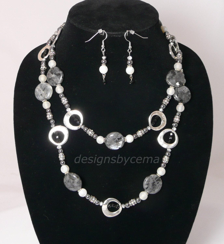 necklace long or layered. Black Bedroom Furniture Sets. Home Design Ideas