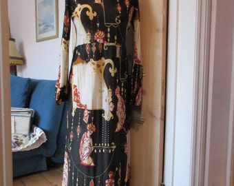 Vintage 1960s Maxi Dress Miss Polly Peck by Sybil Zelker- label size 14- Good condition