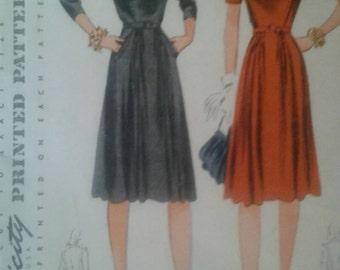 Vintage 1940's Simplicity Dress Pattern 4143 Size 16/Bust 34