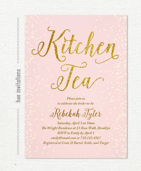 kitchen tea invites ideas pink kitchen tea invitation gold glitter blush pastel pink 20089