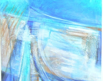 """Acrylic Painting on Canvas """"Abstracted Harbour"""""""