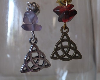 Celtic Triangle Stemless Wine Charms - Set of 2