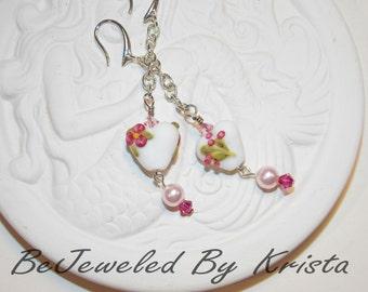 Lampwork Heart Earrings #3