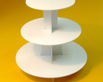 Cupcake Stand Round shape / 3 Tiers / Plastic / Durable / Mini Desserts / Confectionery / Wedding / Party Decoration / Dessert Table
