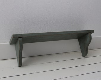 Wall shelf in blue brown shabby chic style