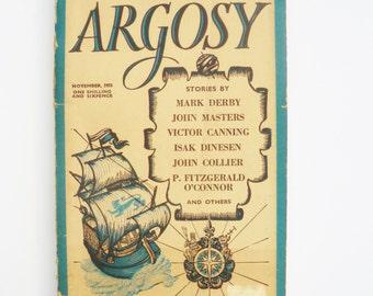 Argosy Short Story Magazine November 1955 Mark Derby and more vintage magazine  stories