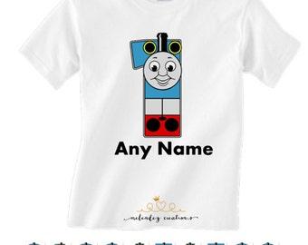 Thomas the Train Birthday Shirt Personalized