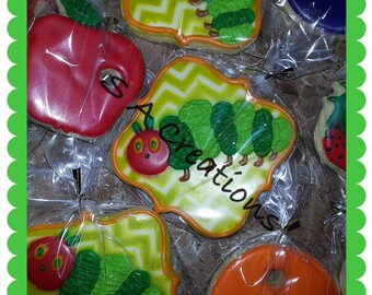 The Very Hungry Caterpillar Custom Cookies