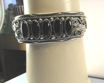 Black Onyx Decorative Native American Bracelet