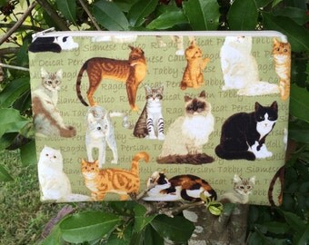 Cats Zipper Pencil Case,Cosmetic Pouch, Coupon Holder, Coin Pouch