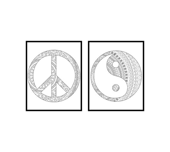 Unavailable listing on etsy for Ying yang coloring pages