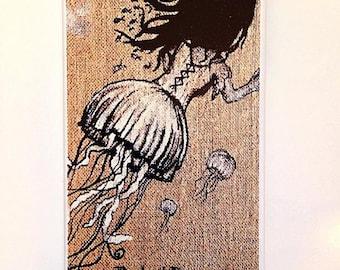 jellyfish girl iphone 4/4s phone case