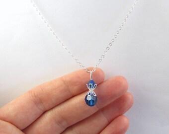 Blue Necklace, Blue Jewelry, Blue Bead Necklace, Blue Bead Jewelry, Capri Blue Necklace, Royal Blue Necklace, Royal Blue Jewelry, Blue Gift