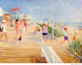 Rehoboth Beach Boardwalk, Dolles, prints in 3 sizes, painting by Ray Sokolowski