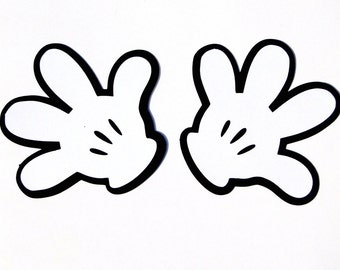 Mickey Mouse Glove Die Cut , Disney's Mickey Mouse Clubhouse Glove/ Hand Cut Out- Set of 20