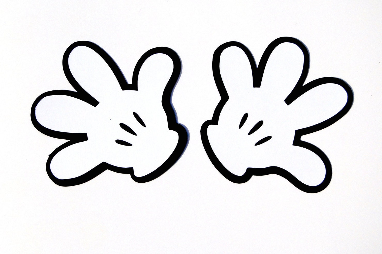 Mickey Mouse Glove Template Printable
