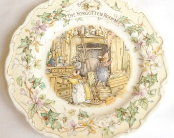The Forgotten Room - Brambly Hedge plate -  Royal Doulton collectors plate