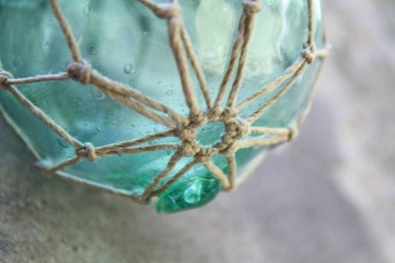 Makramee auf gr ne glaskugel dekoration jahrgang f r zu hause - Grune dekoration ...