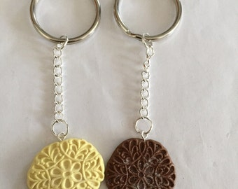 Pizzelle Cookie Keychains!