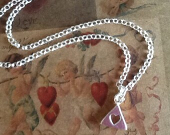 Heart Necklace Sterling Silver chain Necklace Women's necklace Teen Necklace