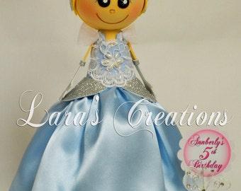 Fofucha Cinderella , Foam Doll, Cinderella party. Cinderella Centerpiece.