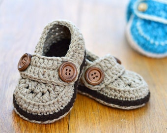 CROCHET Baby Booties Baby Boy Loafers Easy photo tutorial crochet pattern for Baby Booties Crochet shoes Digital file Instant Download