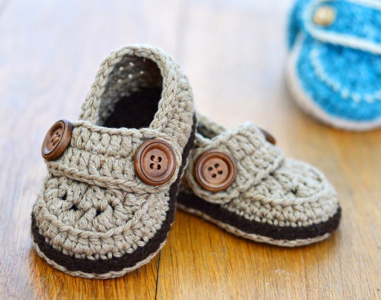 CROCHET Pattern Baby Booties Baby Boy Loafers Easy photo