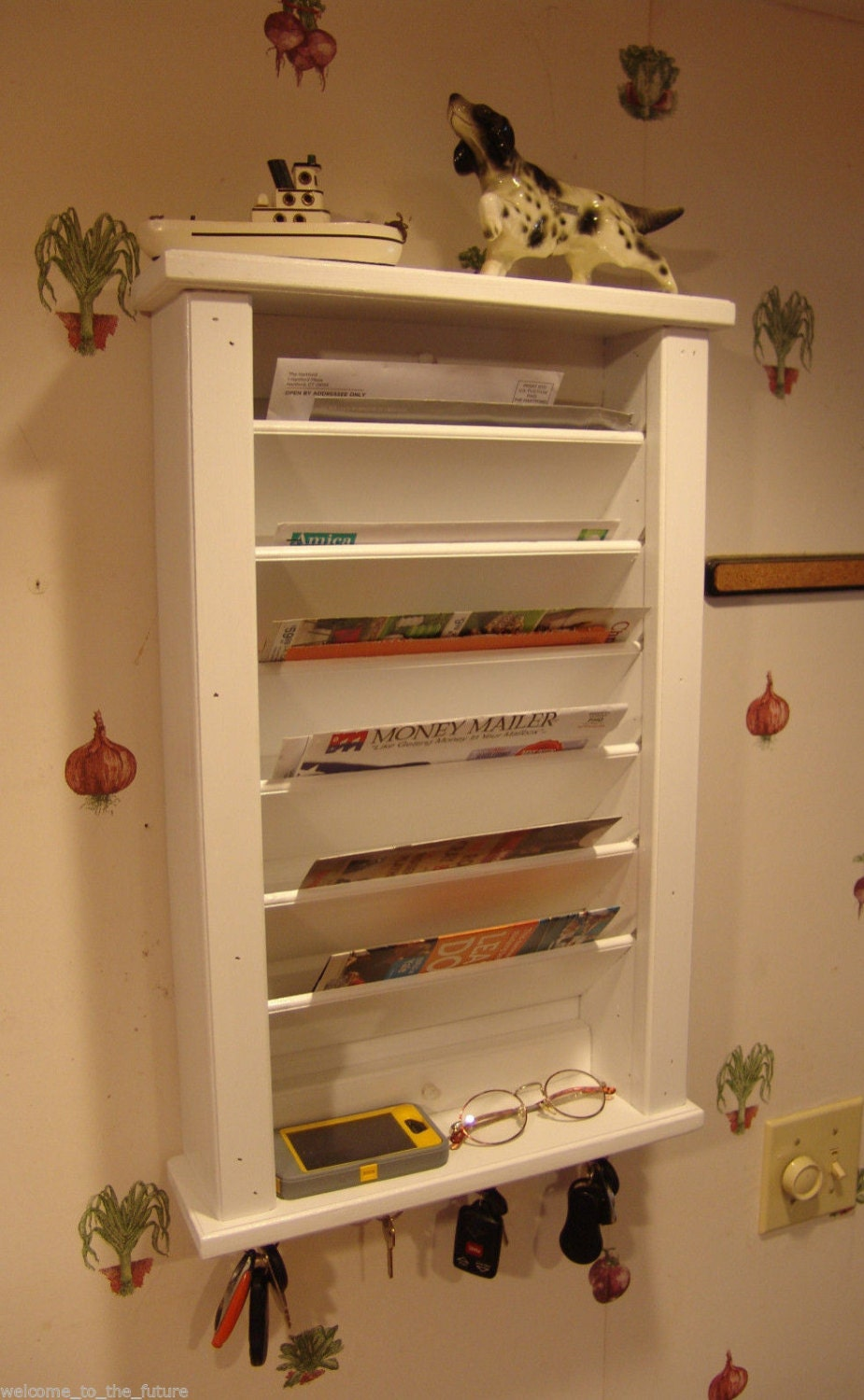 Mail Amp Key Hook Organizer With Phone Shelf Handcrafted