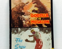 Godzilla VS Megalon / The Snow Creature (hard to find vintage 80's goodtimes video double feature)